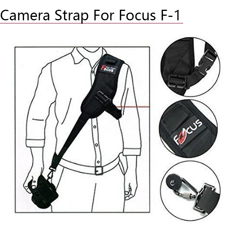 Focus F-1 Quick Rapid Single Shoulder Belt Camera Neck Carry Speed Anti-Slip Sling Strap For Canon Nikon DSLR 7D 5D Accessories