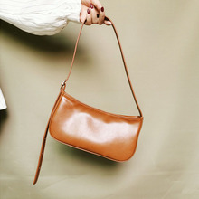 2019 Spring Summer Woman Trendy Green White Single Strap Handbags PU Leather Zipper Shoulder Bag Female Handbag All Match OC703