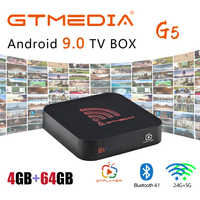 2020 Android 9.0 TV Box 4GB RAM 64GB ROM Widevine L1 Support Watch Netflix in HD 4K GTMEDIA G5 Media Player Youtube Smart Box