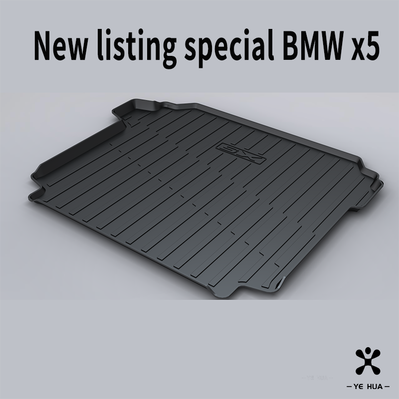 Black Heavy Duty Cargo Floor Mat-All Weather Trunk Protection, Durable HD TPO Fit For BMW X5 11-13,14,15-18,19