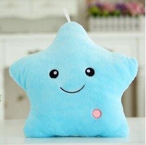Image 5 - 40*35cm stelle luminose cuscino di peluche per bambini regalo di compleanno morbido cuscino per animali cuscino per bambini cuscino colorato a Led
