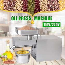 220/110V oil press Machine Automatic intelligent Stainless steel cold oil machine home oil presser Sunflower olive oil extractor