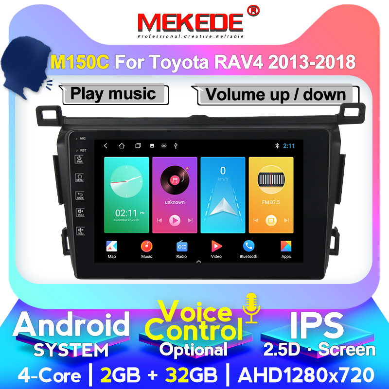 MEKEDE M400 4G+64G for <font><b>Toyota</b></font> <font><b>RAV4</b></font> <font><b>Rav</b></font> <font><b>4</b></font> 2013 <font><b>2014</b></font> <font><b>2015</b></font> <font><b>2016</b></font> <font><b>2017</b></font> 2018 Android BT Car Radio Multimedia system with SWC 2.5D image