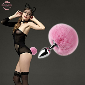 Rabbit Tail Sex Toys Silicone Metal Plush Anal plug Cosplay Cute Tail Anal Erotic Toys Adult For Couples Man Women Gay Products
