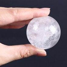 Натурально чистый кварцевый Сферический Кристалл шар исцеляющий драгоценный камень