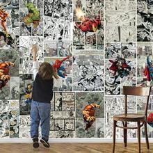 Пользовательские Настенные обои 3D Marvel Comics 3D настенные Детские комнатные обои декоративные ТВ фон настенные украшения живопись