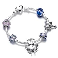 Hot Sale Flower Fairy Bella Robot Charm Bracelet With Butterfly & Wing Beads For Women Girls Christmas Gift