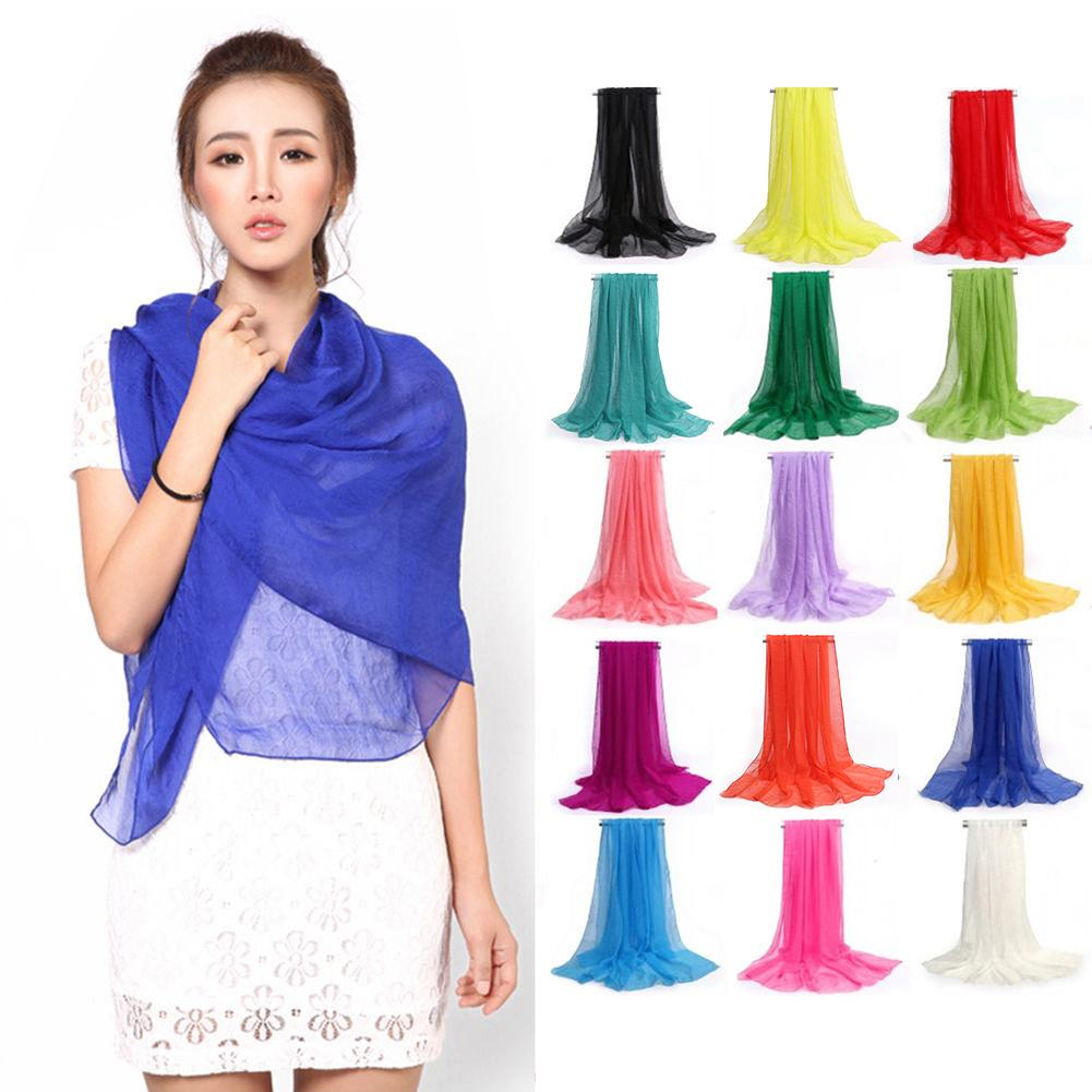 Black/Purple/Yellow/Gray/White Colorful Soft Cotton Line Scarves Women Long Large Size Scarf Fashion Solid Color Ladies Wraps