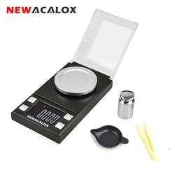 NEWACALOX-Balance électronique numérique pour bijoux, affichage LCD de haute précision, poids de laboratoire, 50g/100g x 0.001g