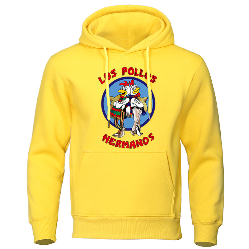 LOS POLLOS Hermanos Letter Print Male Sweatshirts Mens Hoodies 2019 Autumn Winter High Quality Hoodie Chicken Brothers Pullovers