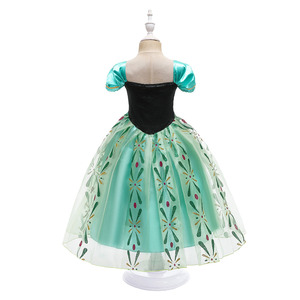 Image 3 - Snow Queen 2 NEW Elsa Anna Dress for Girls Elsa Halloween Fancy Clothes Children Party Cosplay Princess Costume Accessories Wig