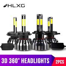 hlxg матрицы с четырёх сторон 12000Лм H8 H11 противотуманные фары H7 LED лампы CANbus H4 лампы HB3 9005 HB4 9006 90Вт ходовые огни для авто ближний свет дальний свет 24В 12В ЛЕД светодиодные лампы в машину мотоцикл