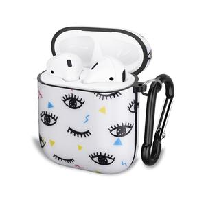 Image 1 - Cute Eyes Design For Apple AirPods Case, IMD Soft TPU Case Cover for AirPods 1&2 Convenient charging with Keychain