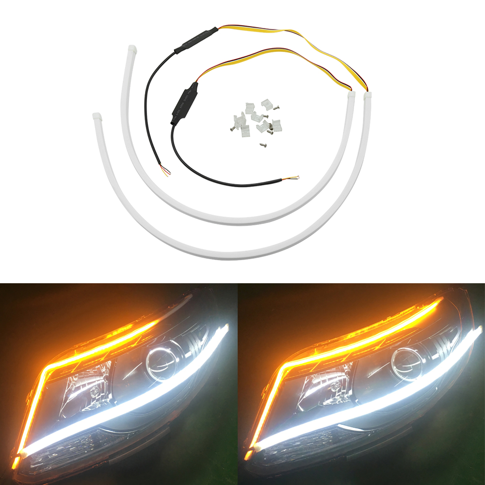 Flexible Lightbar Style DRL LED DYNAMIC INDICATOR For Audi A2 A5 A8 Q5 Quattro