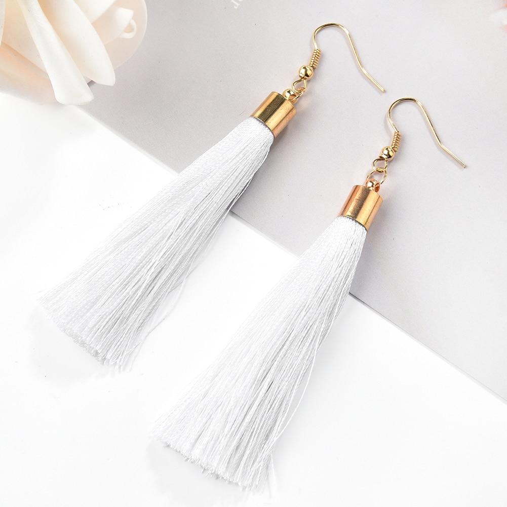 Fashion Geometric Long Tassel Earrings Women Fashion Retro Alloy Water Exaggerate Drop Earrings Jewelry Accessories