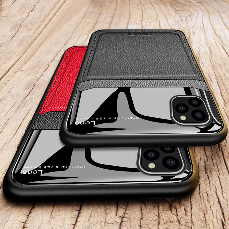 Luxe leather case Voor iphone 11 pro max camera lens bescherming cover Voor iphone 11 pro 2019 op iphone 11 Silicone Coque fundas