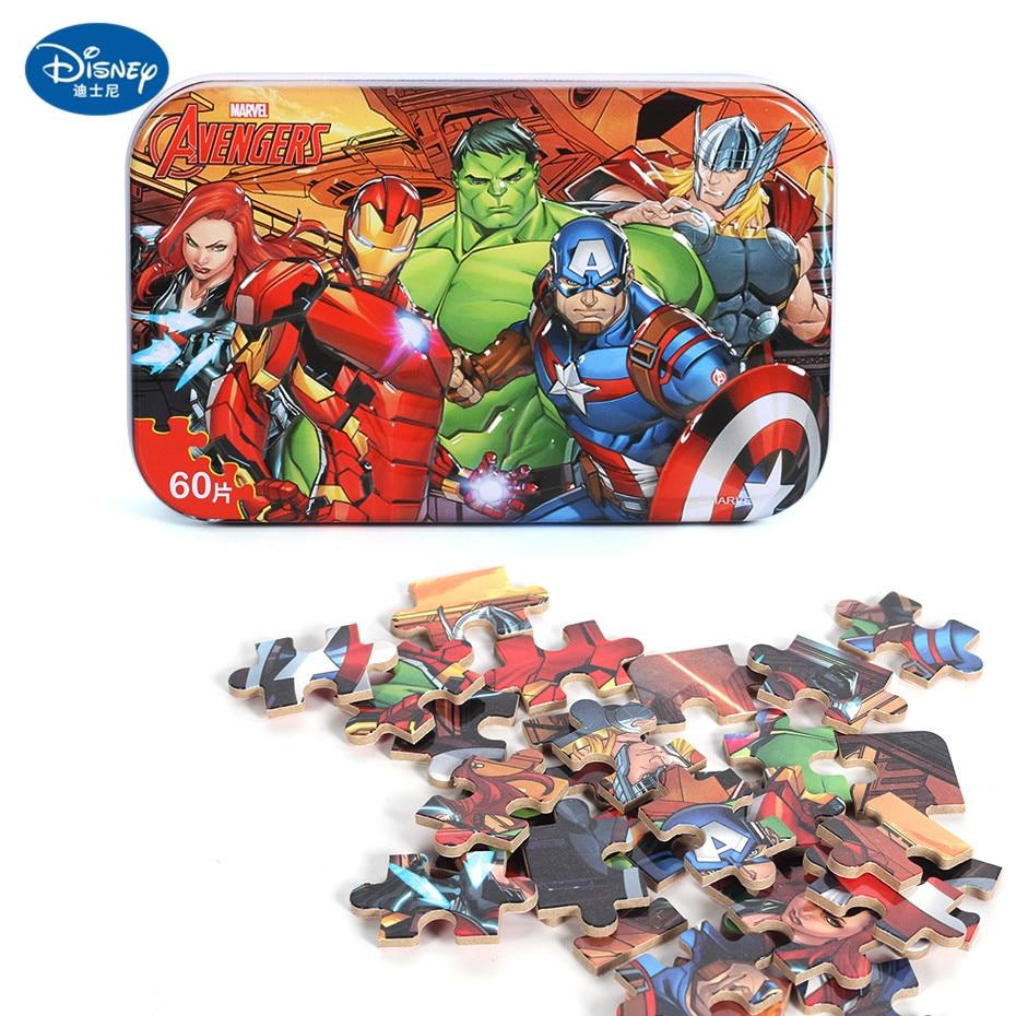 Disney 60 Piece Princess Frozen Wooden Box Puzzle Early Education Children Bottom Box Puzzle Birthday Toys Intelligence Puzzle 9