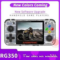 Anberonic جديد ريترو لعبة RG350 لعبة فيديو وحدة تحكم بجهاز لعب محمول صغير 64 بت 3.5 بوصة IPS شاشة 16 جرام لعبة لاعب RG 350 PS1 RG350M