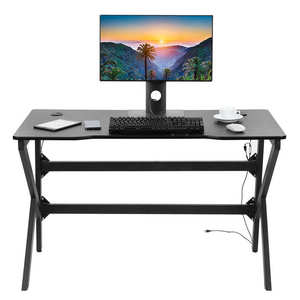 Ergonomic Gaming Table Computer Desk with RGB LED Light for Home Use Furniture Boy Gift