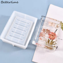 Caixa de armazenamento sabão molde silicone cristal resina cola epoxy molde diy artesanal artesanato ferramenta b36d