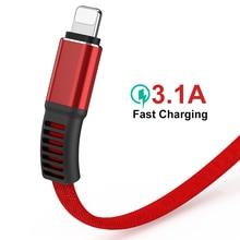 2020 novo 3.1a cabo usb para iphone x 8 7 6s mais 5 5S cabo hi elástico cabo de dados de carregamento rápido carregador rápido para o dispositivo da apple