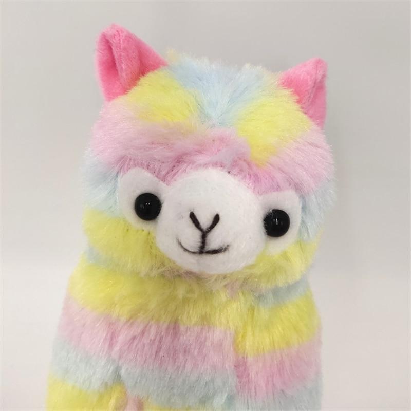 CUTE Rainbow Alpaca Horse Unicorn Plush Sheep Toy Japanese Soft Alpacasso Stuffed Animals Lovely Present For Girls