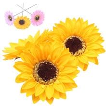 50 pçs flores artificiais girassol sabão flores cabeça eterna flores casamento dia das mães dos namorados diy buquê materiais