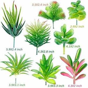 Image 4 - Confezione da 24 piante grasse artificiali pianta da giardino miniatura falso Cactus floreale fai da te casa succulente finte piante finte succulente finte