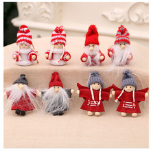 FAROOT Cute Angel Doll Girl Ski Pendant Christmas Tree Decorations for Home Wooden Christmas Tree Ornaments Xmas Gift for Kids(China)