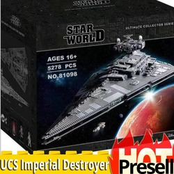 81098 Ultimate Collector Series 5278PCS Max Imperial Star Destroyer ruimteschip Bouwstenen Baksteen legoinglys Star Wars 75252