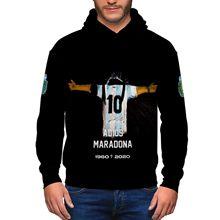 2020 maradona camisa com capuz futebol rua pollover moletom com capuz masculino maradona imagem harada impressão homem/mulher maradona inverno hoodie