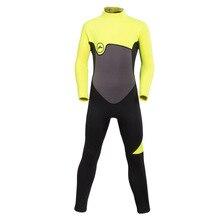 2 мм неопреновые гидрокостюмы с молнией сзади, Цельный купальник с защитой от ультрафиолетового излучения, термальный купальный костюм для детей на весну/зиму, для мальчиков и девочек