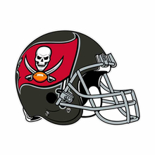 DAWASARU for Tampa Bay Buccaneer Helmet Caricature Sticker Decal Occlusion Scratch Pull Flower Suitable for VAN RV 13cm X 10cm caricature