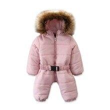 2019 الشتاء الدافئة سميكة الثلوج ارتداء طفل طفل صبي فتاة الشتاء رومبير سترة مقنعين الأطفال أبلى بذلة معطف الزي