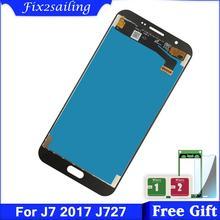 شاشات LCD لسامسونج غالاكسي J7 J727 SM J727P J727V J727A LCD عرض تعمل باللمس استبدال