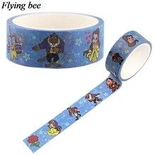 Flyingbee 15 мм X 5 м Бумага васи лента Красавица и Чудовище клейкая лента DIY Скрапбукинг наклейка этикетка маскирующая лента X0554