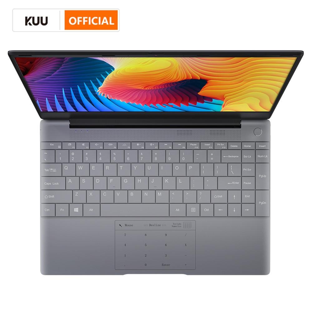Ноутбук KUU K2 полностью металлический, IPS экран 14,1 дюйма, 8 ГБ ОЗУ 512 ГБ 256 Гб SSD, сканер отпечатка пальца, полноразмерный ноутбук с подсветкой, ...