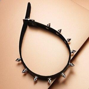 Metall Spike Choker PU Leder Kragen Halskette Punk Halskette Erklärung Schmuck für frauen Neck Zubehör X627