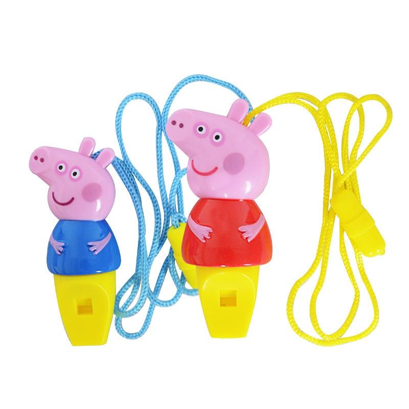 Genuine Peppa Pig George pepa pig Whistle Educational Toys Childrens peppa Birthday Gifts
