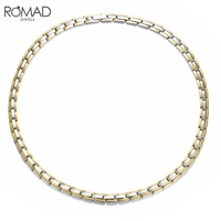 ROMAD Stainless Steel Necklace Men/Women Black Silver Rose Gold Color Chain Necklace Rock Hiphop Jewelry Long Chain Necklaces R5
