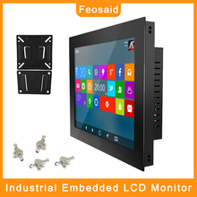 Feosaid 17.3 inch embedded industrial CNC computer core i3 i5 i7 with wifi com win7 win10 Linux system for mini AIO panel pc