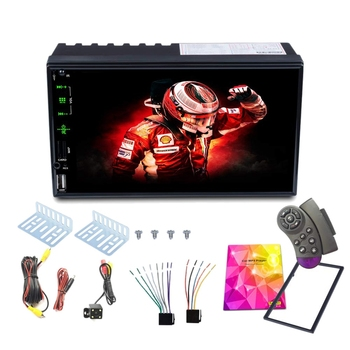 2 Din Auto Stereo,7 Inch HD Press Screen Support Bluetooth Handsfree Backup Rear View Camera, Mirror Link,Caller ID, Upgrade the