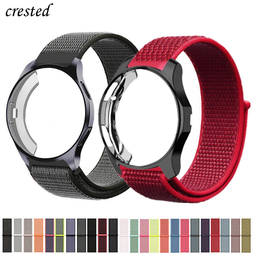 Case+strap For Samsung Galaxy watch 46mm/42mm Band Gear S3 Frontier Nylon sport loop bracelet watchband Accessories 42/46 mm S 3