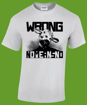 NOMEANSNO camiseta (Fugazi mal cerebro Husker Du dinosaurio Jr manteca de cerdo) -Camiseta de verano para hombre con estampado de título original