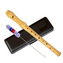 Регистраторы образовательный инструмент сопрано дерево флейта 8 отверстий длинные Германии-Тип музыкальный подарок инструменты
