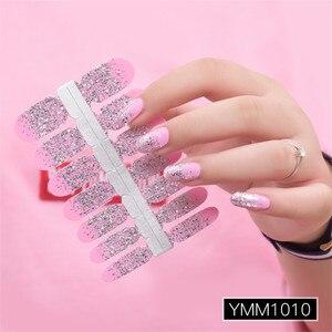 Image 5 - Poudre à paillettes, autocollant, couleur dégradée, enveloppe pour vernis à ongles, couverture complète, 29 couleurs, décoration, Nail Art, bricolage