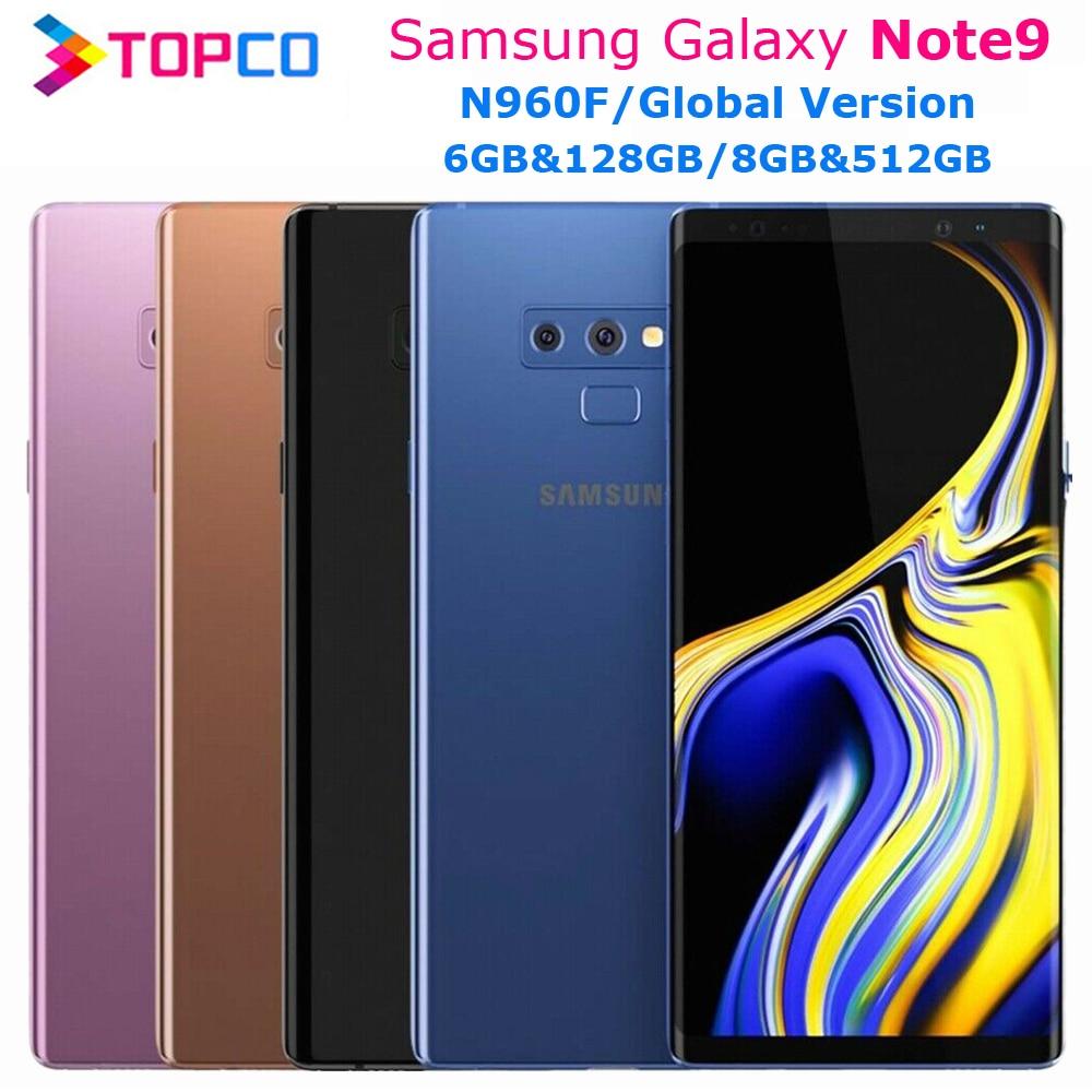 Оригинальный разблокированный Samsung Galaxy Note9 N960F, 128 ГБ и 512 ГБ, Note 9, LTE мобильный телефон Exynos восемь ядер, 6,4 дюйма, двойная камера 12 Мп, NFC, сканер о...