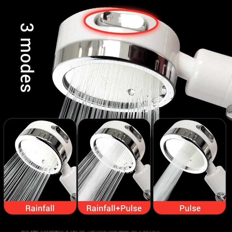 EHEH 3 Models Adjustable Shower Head High Pressure ABS Plastic SPA Rainfall Water Saveing Handheld Detachable ShowerHead