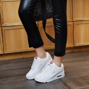 Image 5 - Hundunsnake Air Cushion Womens Sneakers Women Leather Running Shoes Womens White Woman Sport Shoes Female Sports Shoes Gym T14