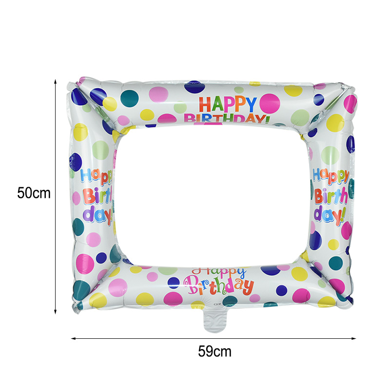 1Pcs Photo Booth Balloons Made With Foil Material For Birthday Photo Frame Globos 7